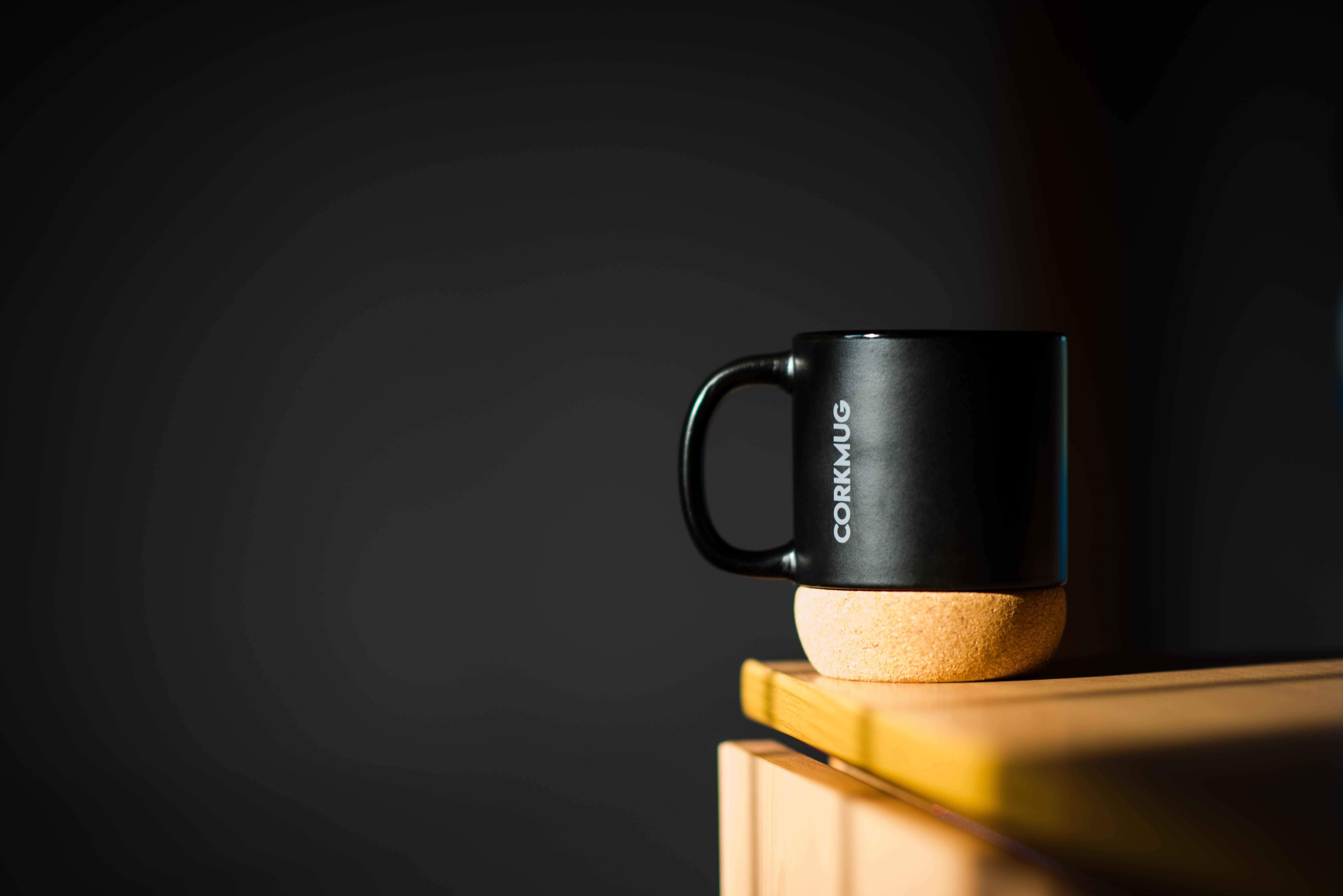 Stylish Chalkboard Black Ceramic Mug